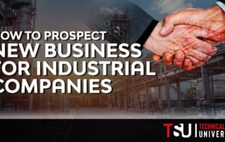 shaking hands and prospecting new business for industrial companies